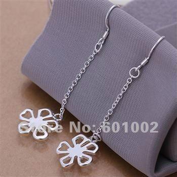 LQ-E089 Free Shipping 925 silver earrings wholesale 925 silver fashion jewelry earring akma jbta rtca US $1.72