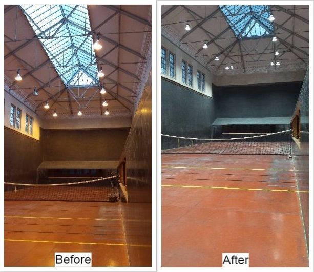 The Moreton Morrell Real Tennis Club invited Earlsmann to review the lighting at its Warwickshire facility. The new LED lighting has reduced energy use from around 9kW to 3.5kW.