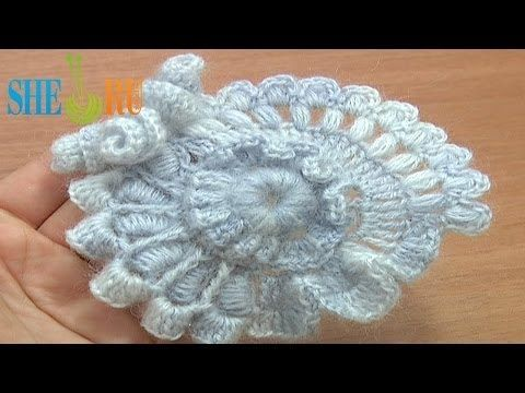 Crochet Freeform Scrumble Tutorial 2 Part 1 of 2 Freeform Crochet Flower - YouTube
