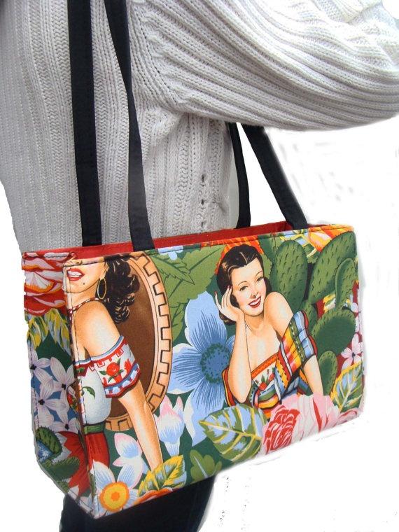 Calendar Girls Pin up Girls Latino Senorita by HandmadeFashion, $39.99