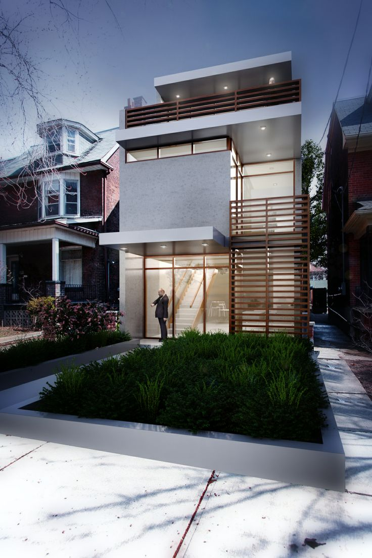 1000 images about infill house on pinterest toronto a for Narrow lot modern infill house plans