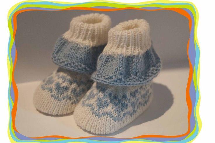 ♥ Baby- Schuhe mit Rüschen gestrickt ♥  von Sternen - Welt auf DaWanda.com