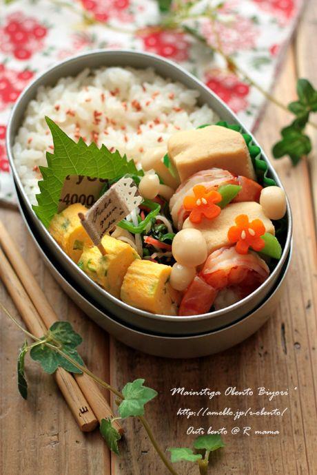 高野豆腐と海老の煮物弁当