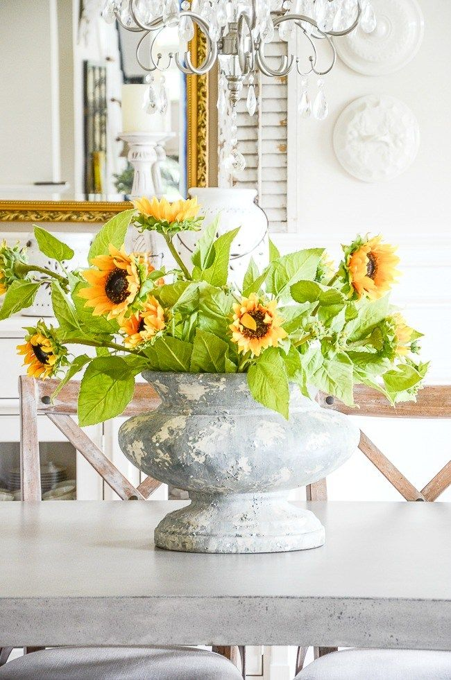 Pop Of Color Summer Tour Stonegable Dining Room Table Centerpieces Dining Room Centerpiece Beautiful Dining Rooms