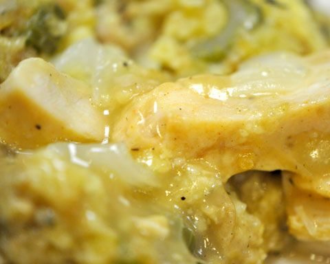 Chicken & Dressing Casserole - Budget Friendly - you can use homemade chicken gravy or your favorite brand