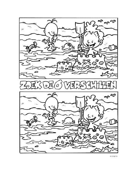 Zoek de 6 verschillen  [123lesidee.nl]