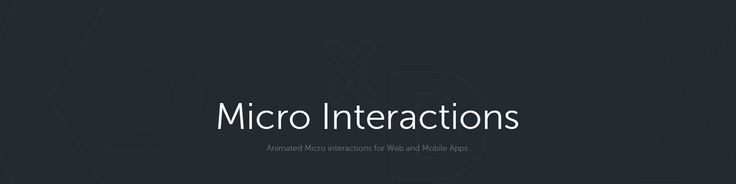 Micro Interactions on Behance