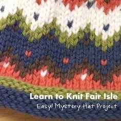 NobleKnits Knitting Blog: Learn Fair Isle Knitting + Knit a Hat!