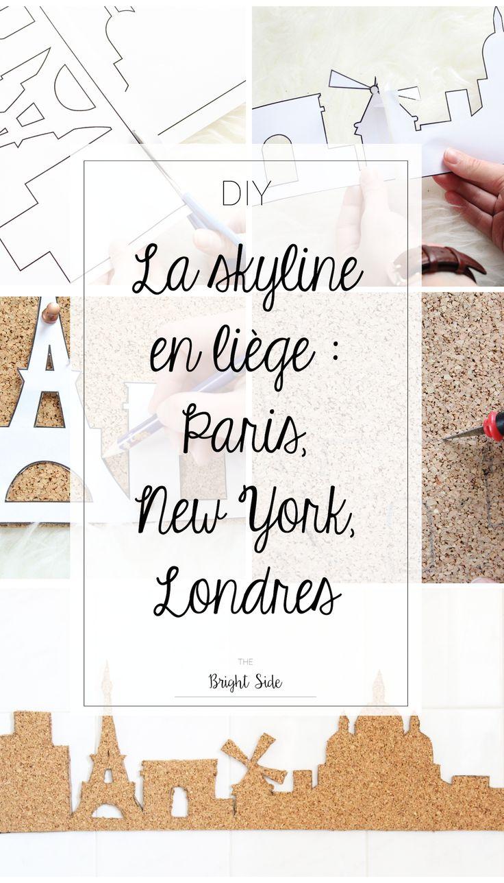 DIY skyline liège : Paris, Londres, New York