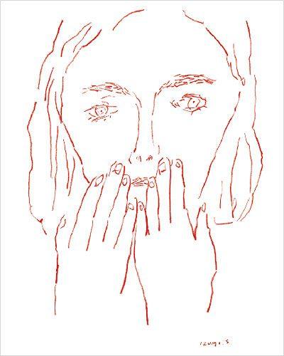 塩川いづみが描く「赤い目のものたち」の展覧会