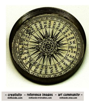 Steampunk Victorian Nautical Compass Picture Milliande
