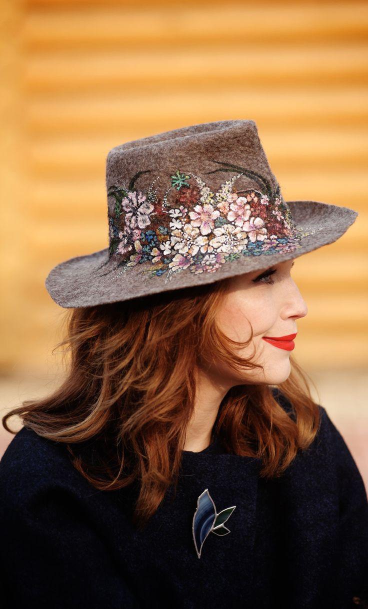 """Felted Hat   Шляпа """"Весенний вальс"""" — работа дня на Ярмарке Мастеров"""
