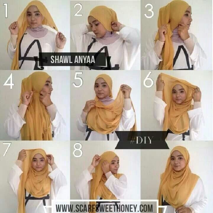 Malaysian Hijab ( Tudung ) tutorial by Scarf Sweet Honey