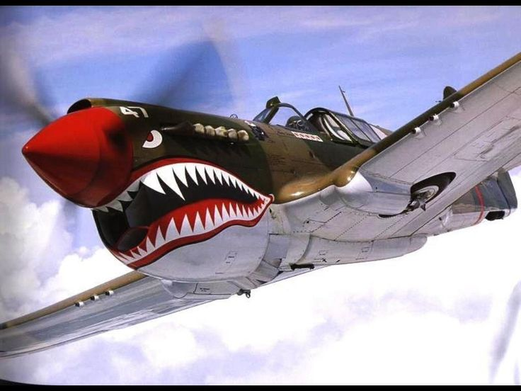 Silly... that shark's mouth design.  Until the P-40 is diving on you.  Then it's terrifying .