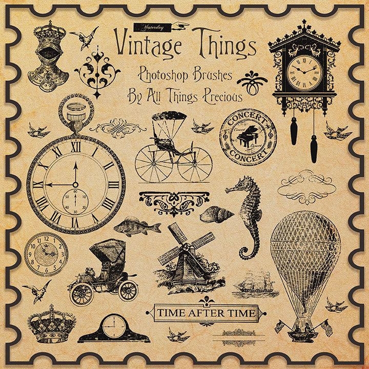 Vintage Things Brushes by AllThingsPrecious.deviantart.com on @deviantART