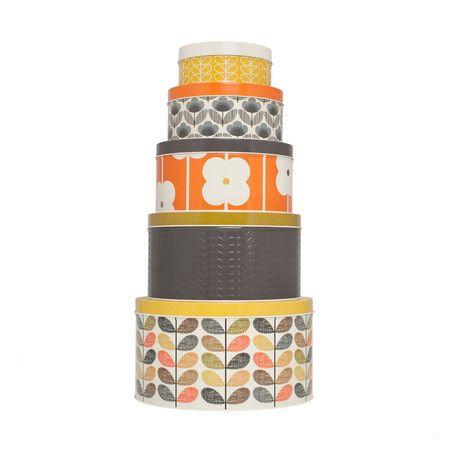 Orla Kiely - Assorted Round Cake Tins - Set of 5