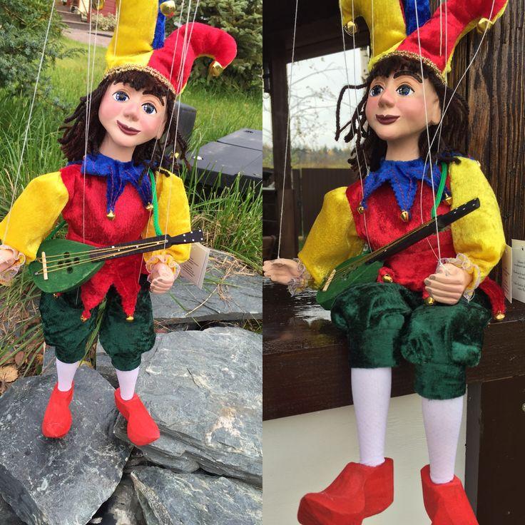 Кукла-марионетка Шут Каспер, авторы Ивета и Павел Новотновы, Парга, Чехия