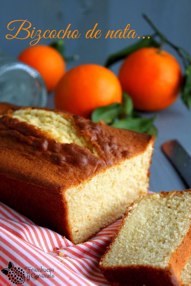 Bizcocho de nata (con un toque de naranja y anis)