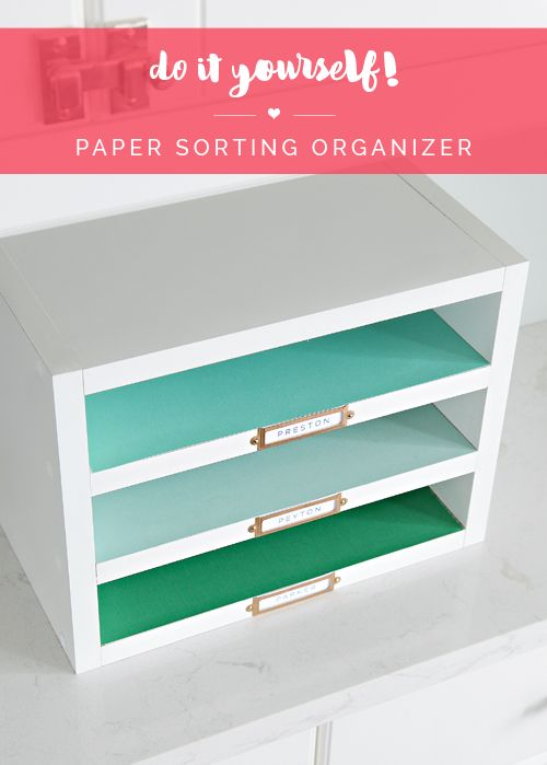 444 best diy organizers images on pinterest diy organizer home 18 do it yourself paper sorting organizer solutioingenieria Choice Image