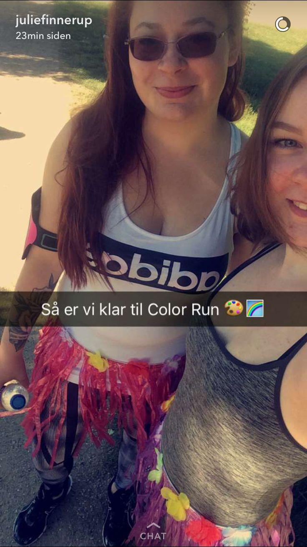 På vej til The Color Run 2016 i Valbyparken søndag den 12 ❤️🌈💪🏻👍🏻👯