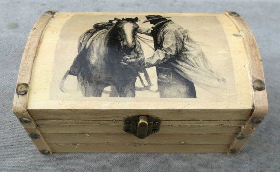 Western Cowboy-Horse Keepsake Storage Chest by PeacefullyPerfect