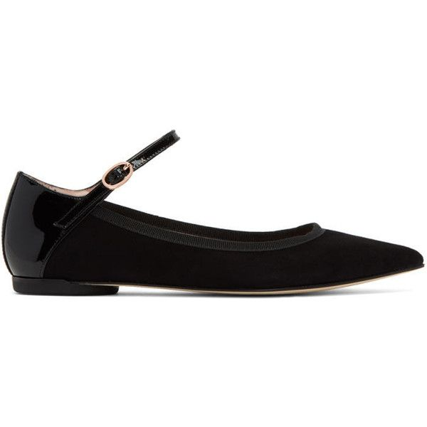 Repetto Black Clemence Mary Jane Ballerina Flats ($335) ❤ liked on Polyvore featuring shoes, flats, black, black mary janes, ballerina flats, pointed toe flats, suede ballet flats and black ballet shoes