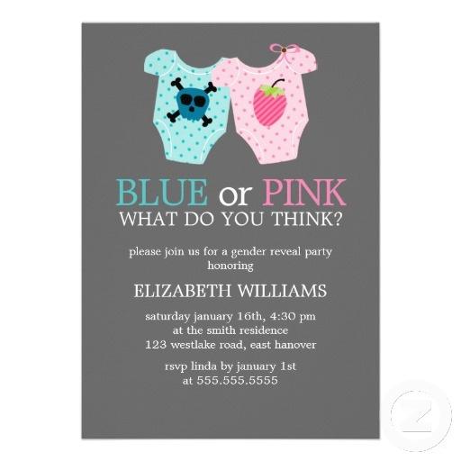 26 best BluePink Shower images – Gender Reveal Party Invitation Wording