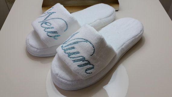 New Mum slippers Baby shower Velour slippers printed by LAMEDORE