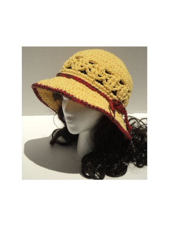 Lattice Work Sunhat with braid and Infinity Scarf - CROCHET PATTERNS ...