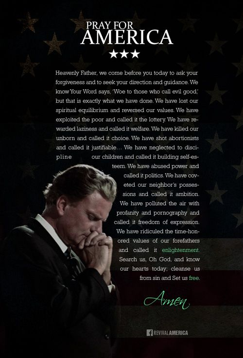 Billy Graham Prayer for America 2014 | We have ridiculed the… | Flickr