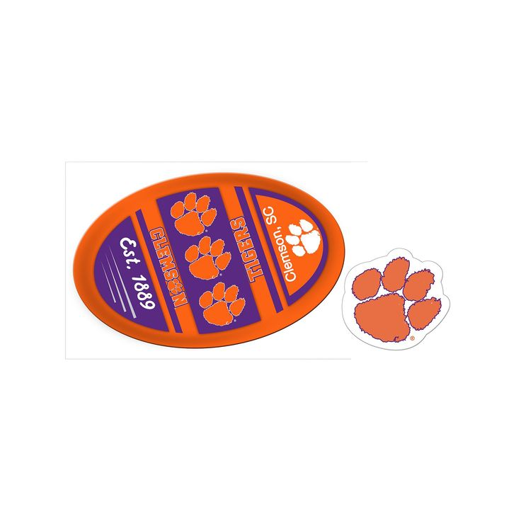 Clemson Tigers Game Day Decal Set, Multicolor
