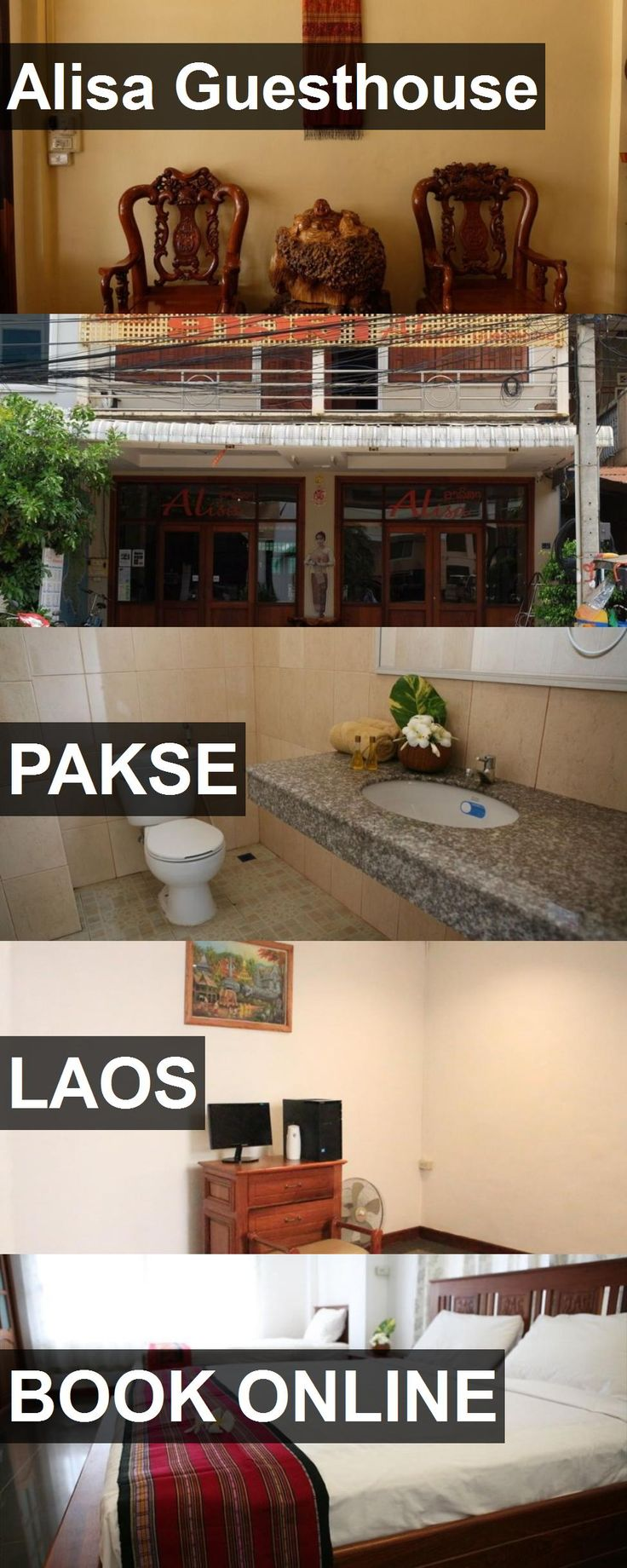 Hotel Alisa Guesthouse in Pakse, Laos. For more information, photos, reviews and best prices please follow the link. #Laos #Pakse #travel #vacation #hotel