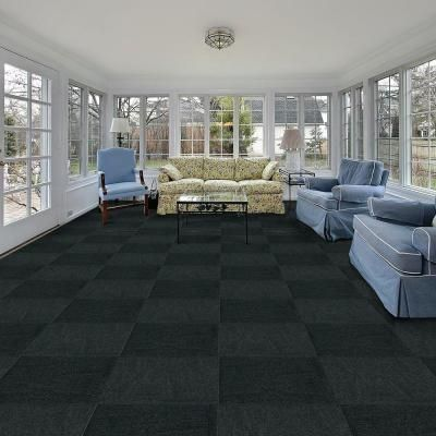 Wonderful Carpet Tiles In Homes Gunmetal Ribbed 18 X To Design Ideas
