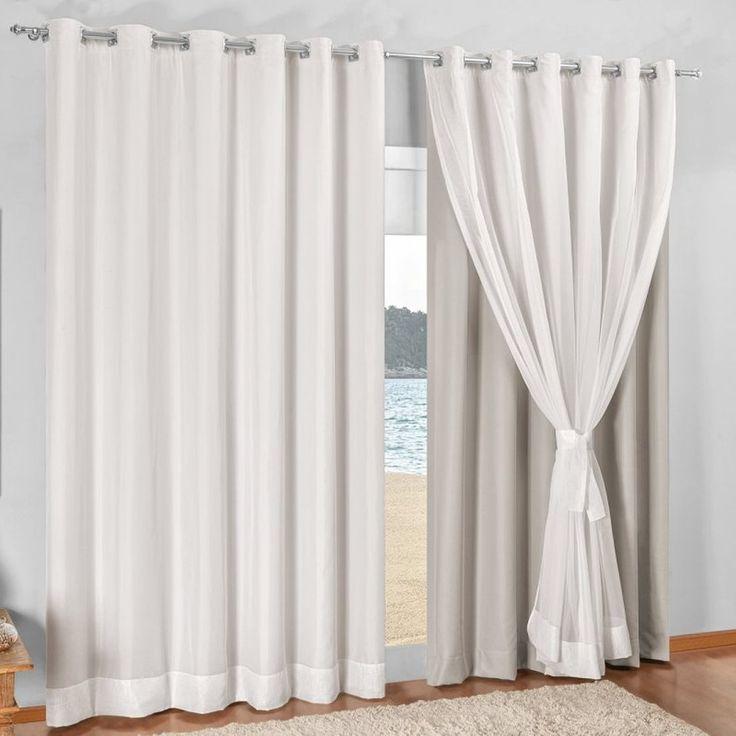 25 melhores ideias sobre cortina com blackout no for Modelos de cortinas para salas