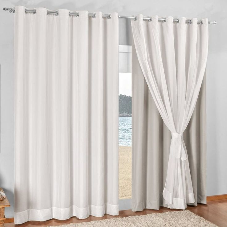 cortina blackout com voil