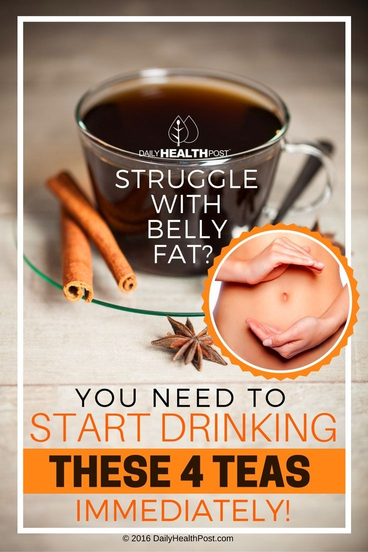 Struggle With Belly Fat? You Need To Start Drinking These 4 Teas Immediately via @dailyhealthpost