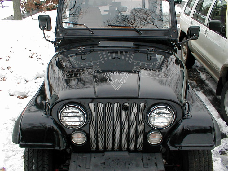 80's style Jeep Golden Eagle hood decal