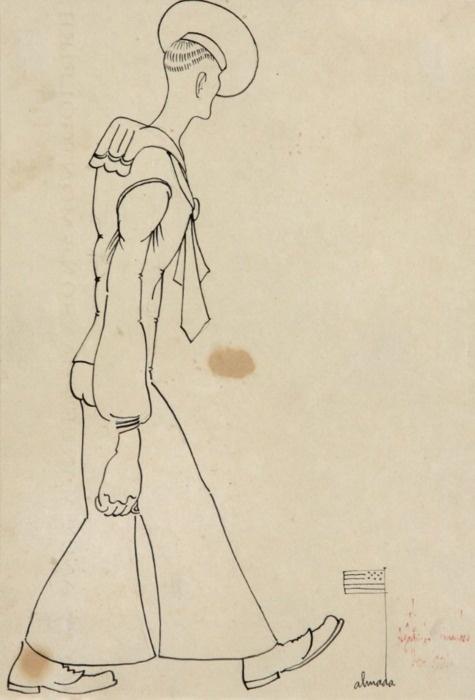 José Sobral de Almada Negreiros (Portuguese, 1893-1970), Marujo, 1921
