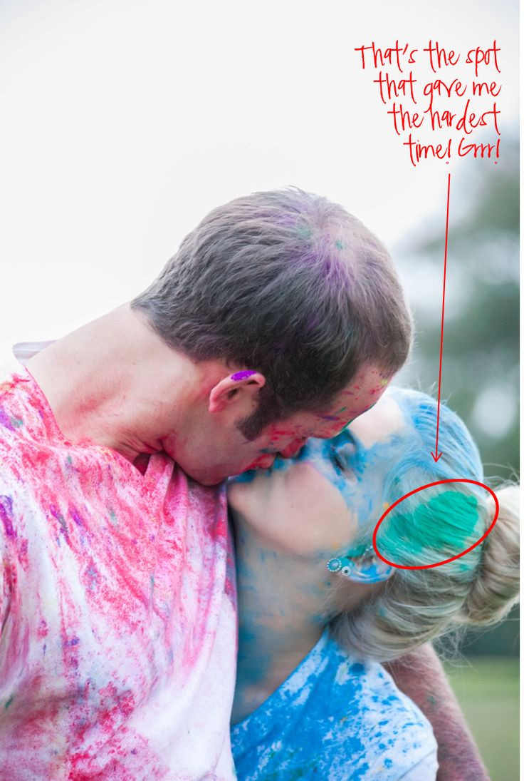 exodus31three: How to Get Color Run Powder Out of Your Hair--good tips cause we have family photos that day and my baby girl is Blonde!