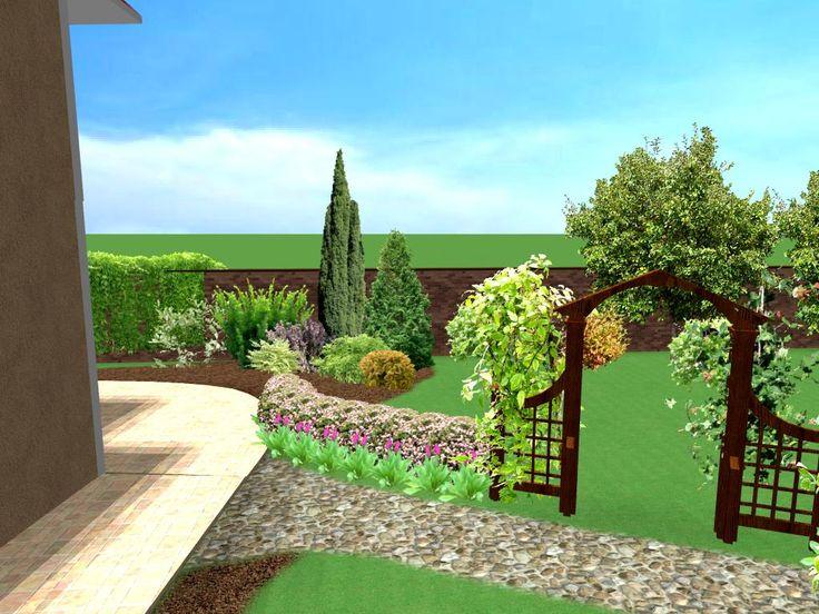 Разделение зоны сада и огорода.