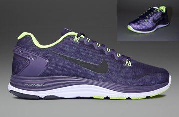 Nike LunarGlide+ 4 Black Anthracite Volt