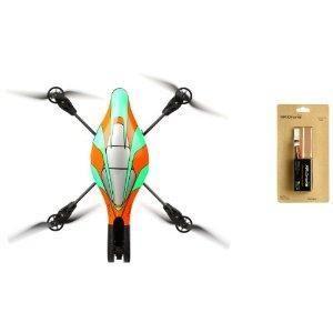 Quadricoptère piloté pour iPhone / iPod touch / iPad - Structure en tubes carbones - Altimètre ultra son - Caméra verticale Haute vitesse