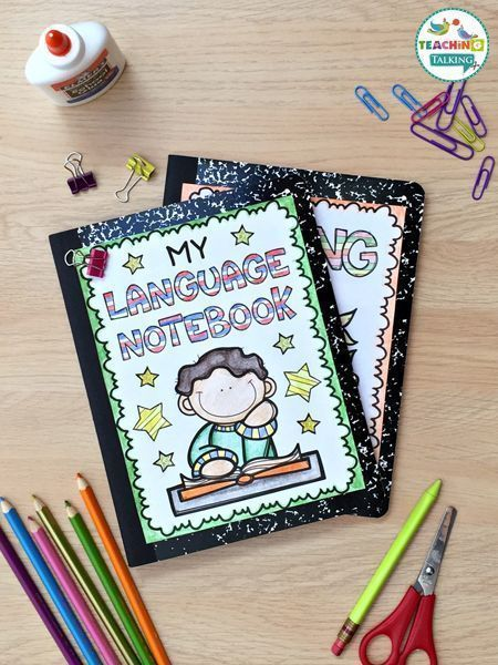 Language notebook activities for kids provide an easy way for SLPs to manage the varying abilities of mixed language groups. Your students build a project to be proud of as they master their speech goals!