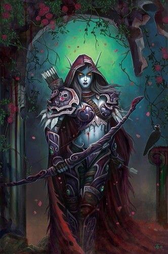 Elfa oscura arquera