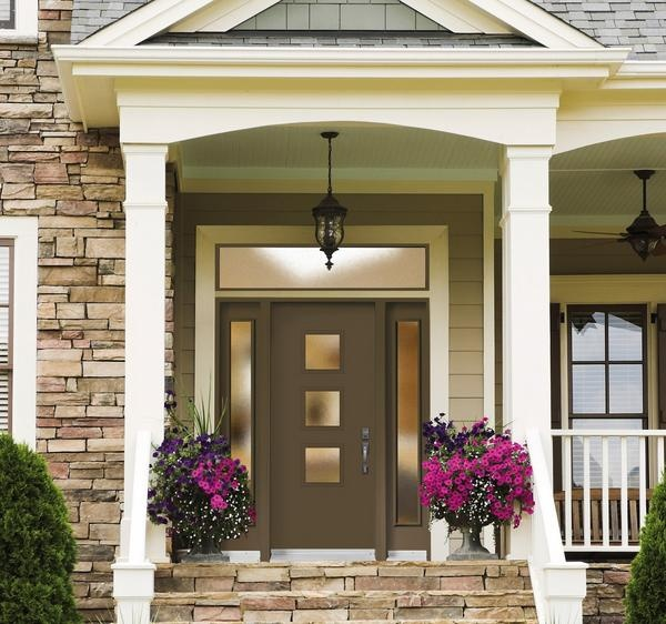 This Is A Retro Take For A Front Door On A Traditional Home That Works Well