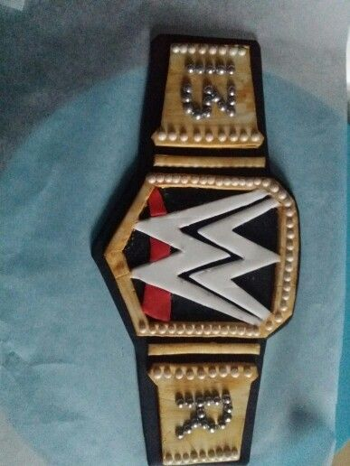 WWE belt. Made of fondant icing
