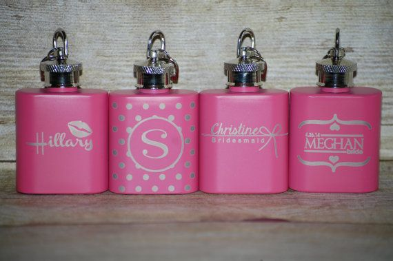 "Bridal Party Flasks, Bridesmaids, Maid of Honor, Matron of Honor, Bride to Be, Future Mrs, Wedding Party Favors or Gifts ""Tie the Knot"""