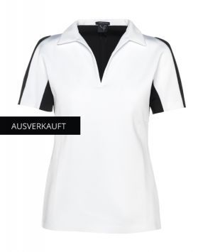 """Shop Online now clothes of Dany Fay Golf Couture  High elasticity neoprene T-shirt with elaborates tailoring around the shoulders in """"Colour Block"""". https://www.danyfay.com/en/short-sleeves/chip-mit-kragen.html  #elasticity #neoprene #golfshirt #golfstyle #golfshort #golfforwomen #golfswing #golfcouture #danyfay #danyfaygolfcouture #golfmode #golfclothes"""