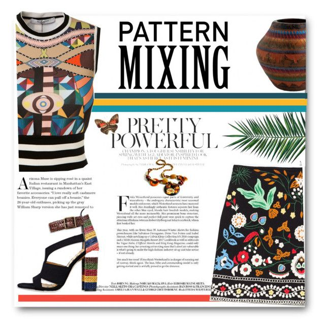 Bold Pattern Mixing by deeppurplesea on Polyvore featuring Givenchy, Nika, contestentry and patternmixing