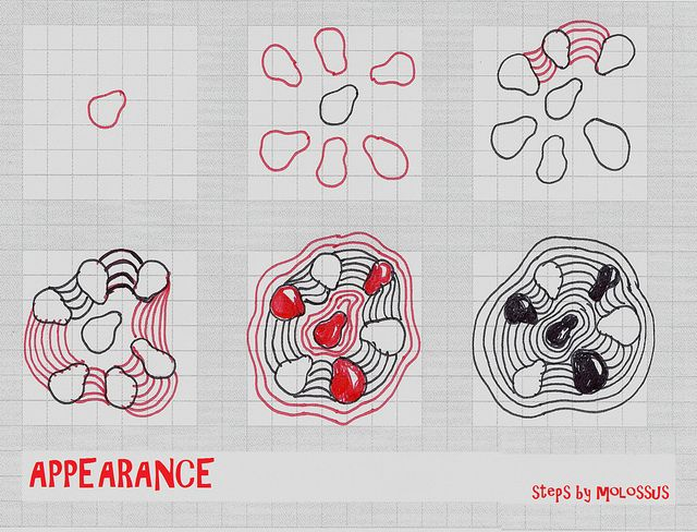 Appearance-Tangle Pattern by molossus, who says Life Imitates Doodles, via Flickr